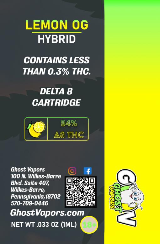 Delta 8 Clear Distillate One Gram Vape Cartridge